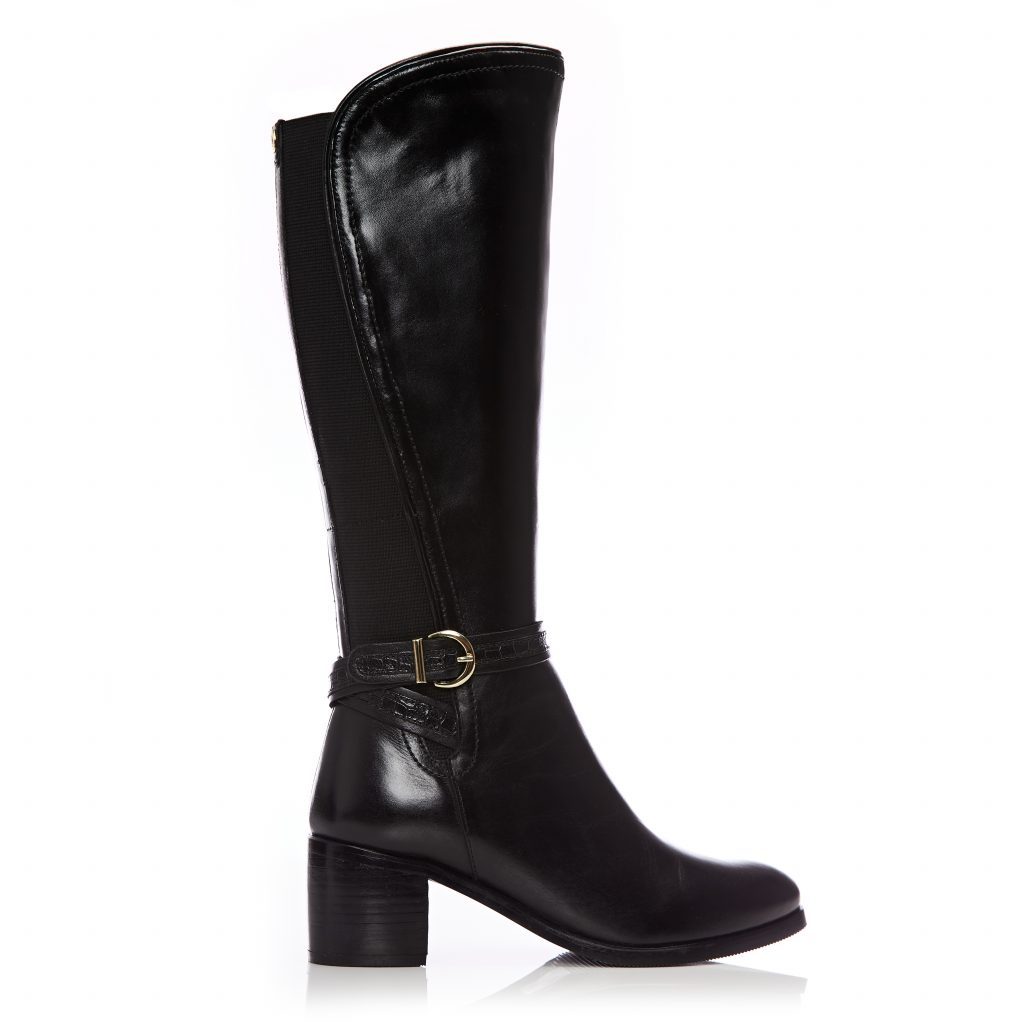 Saschana Black Leather Boots