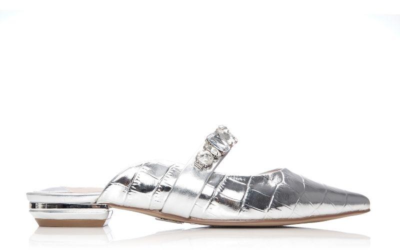 Eleni Silver Leather
