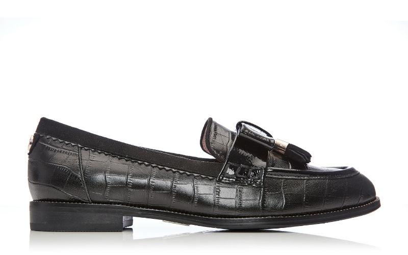 Estella Black Croc