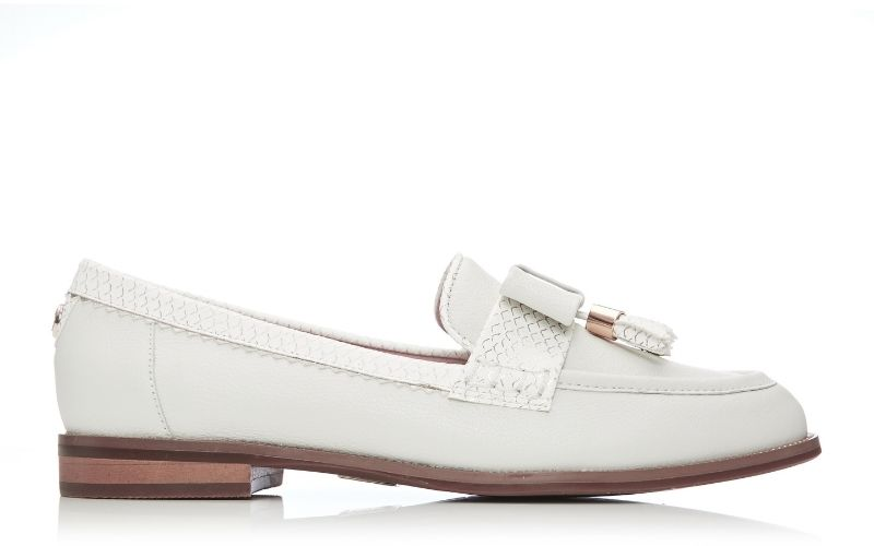 Estella Off White Leather