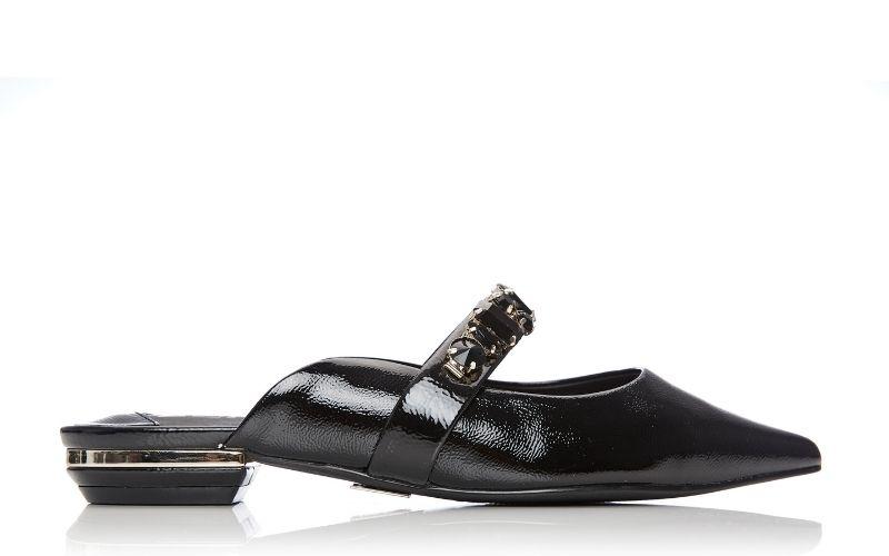 Ennie Black Patent Leather