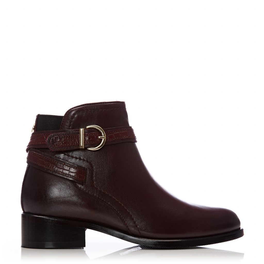 Lettia Burgundy Leather