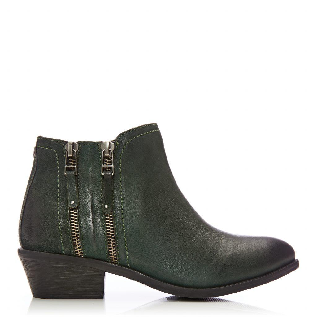 Zipstie Green Nubuck