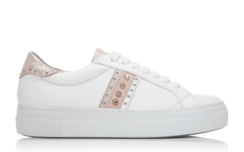 Alphie White Leather