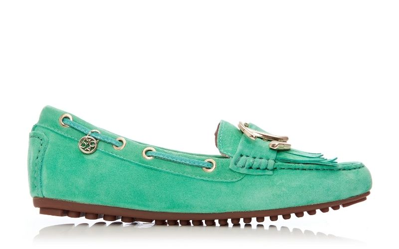 Etissina Green Suede