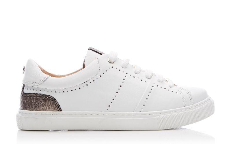 Astina White Leather