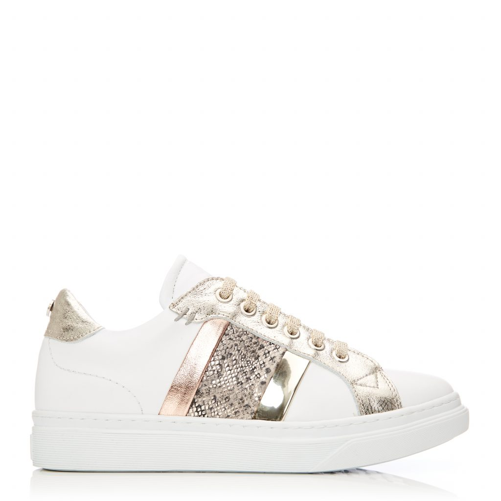 Bowe White-Gold Leather