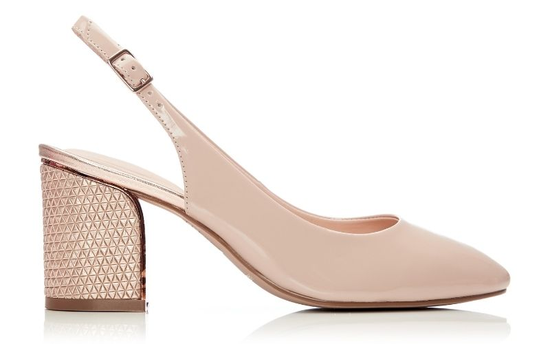 Chinelle Nude Patent Leather
