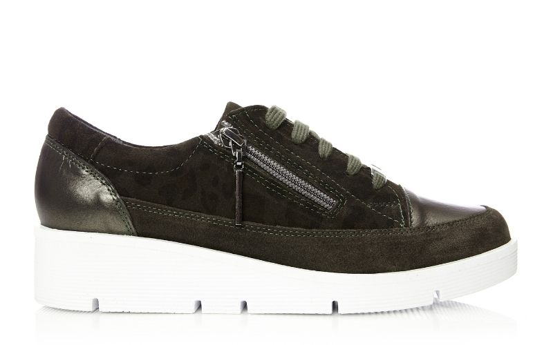 Beena Khaki - Leopard Leather