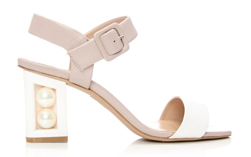 Seapearl White-Nude Leather