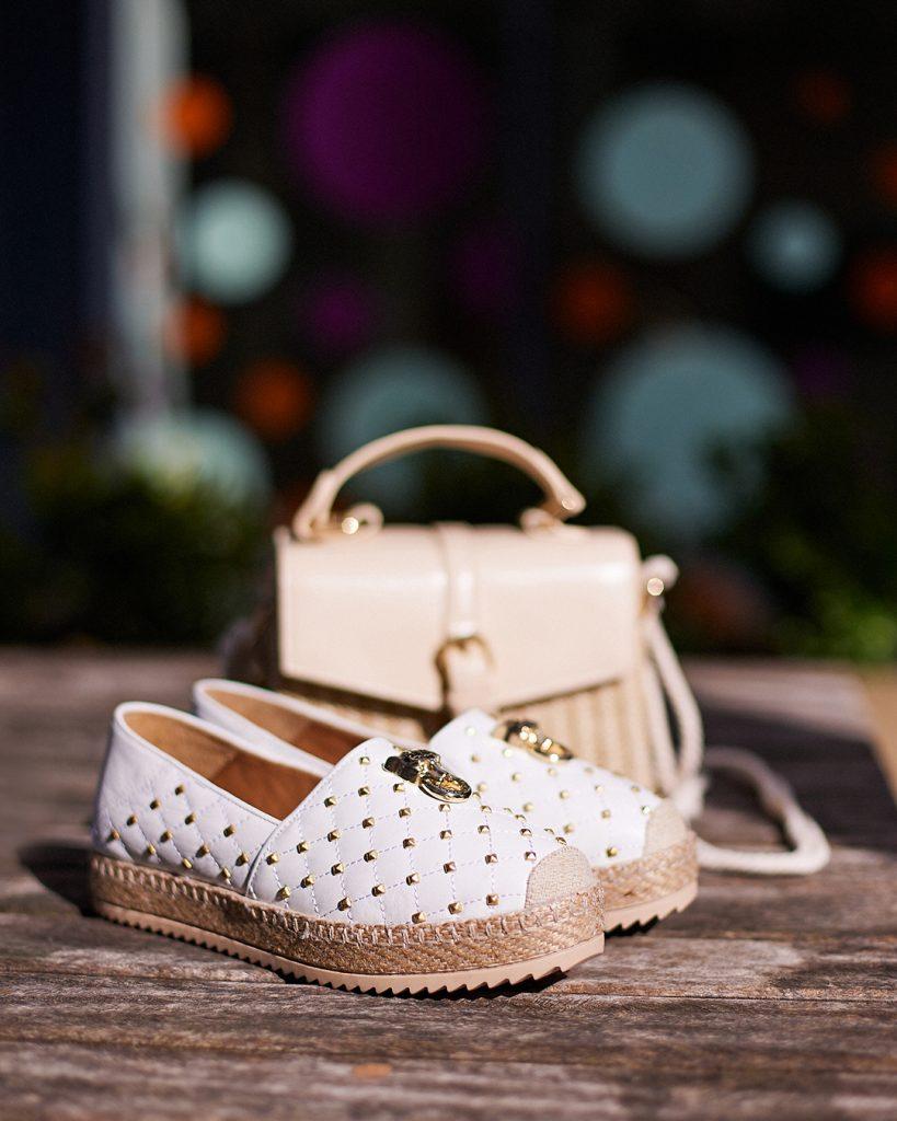 Ereelia Off White Leather and Cindibag Beige Porvair