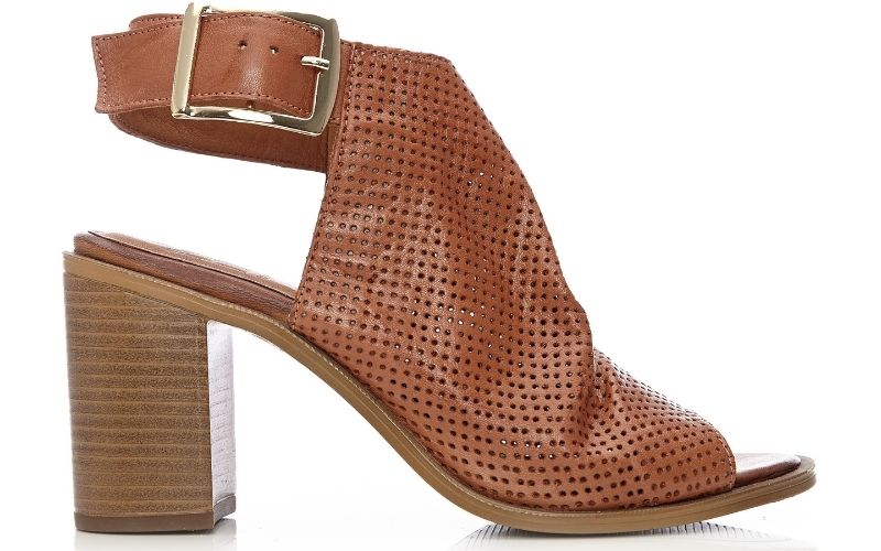Lilaine Tan Leather