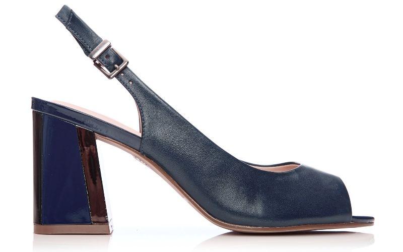 Loelina Navy Leather