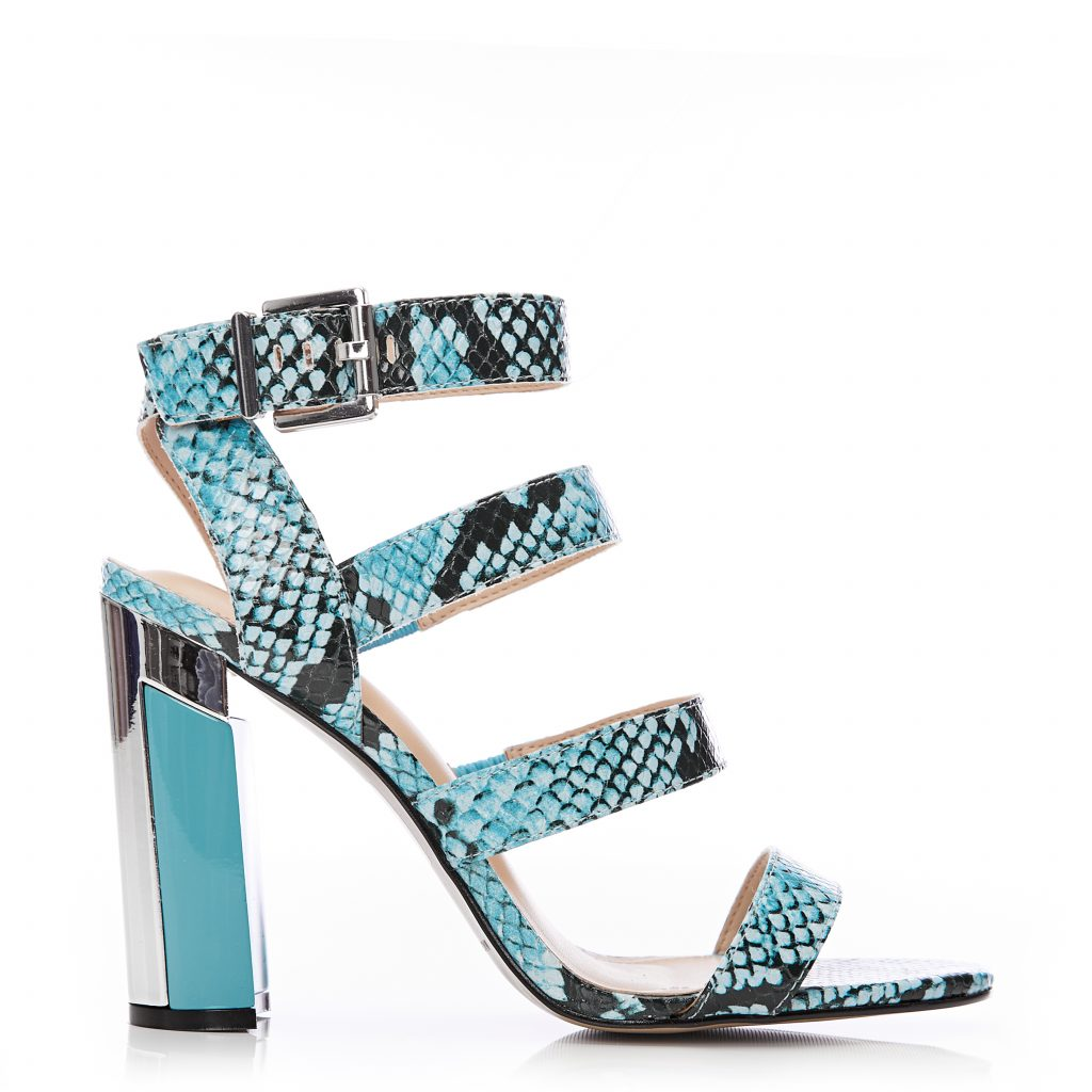 Miresha Turquoise Snake Print