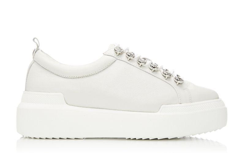 Alejandra White Leather