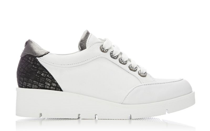 Birrin White - Pewter Leather