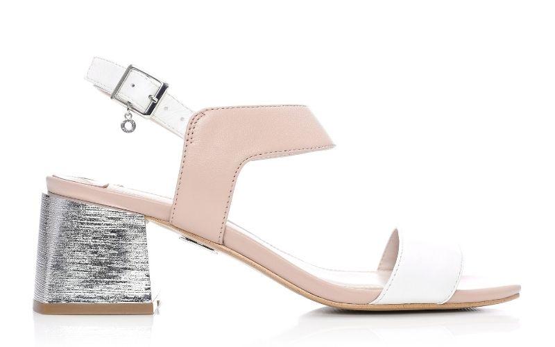Meriah Nude - White Leather