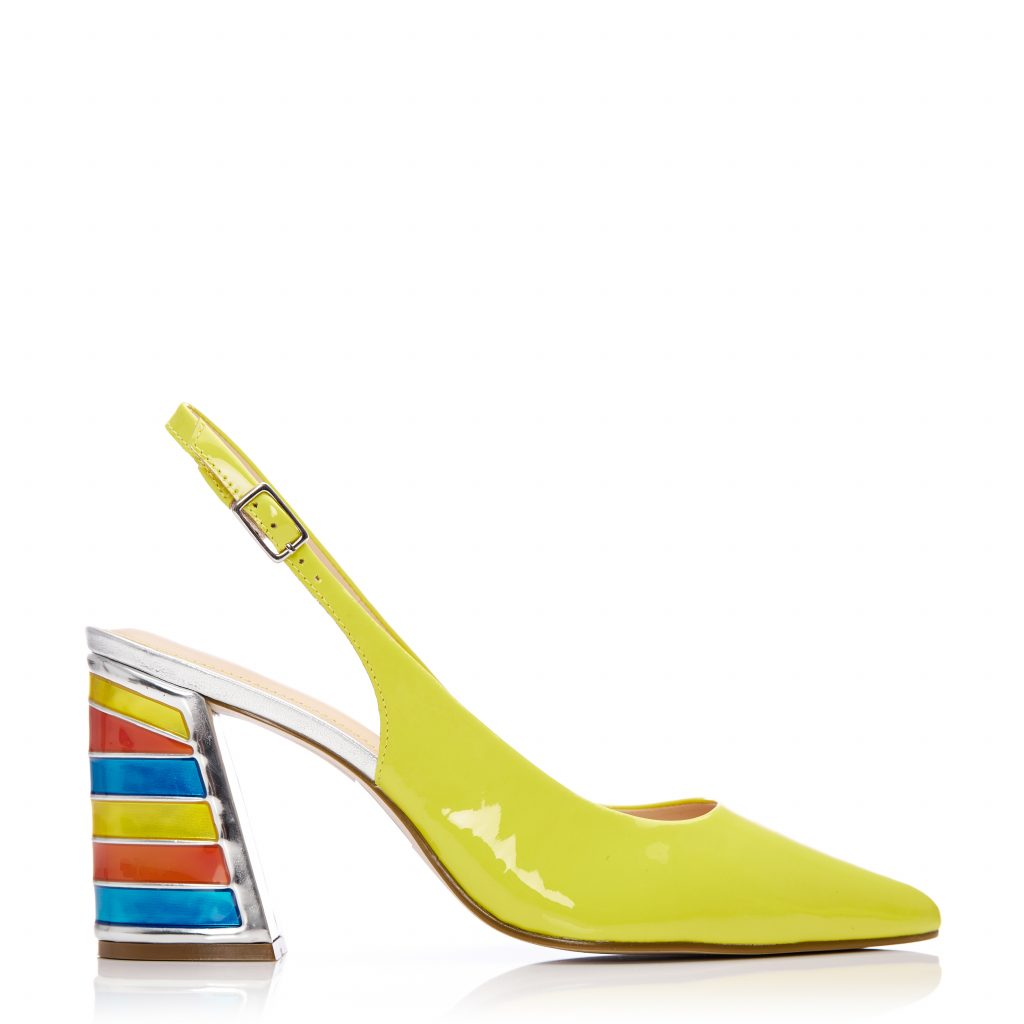 Dinella Yellow Patent Leather