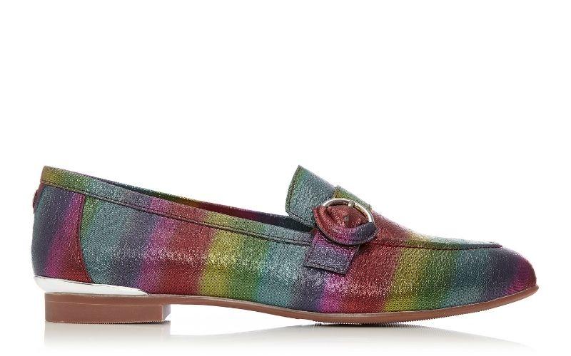 Fina Rainbow Metallic Leather