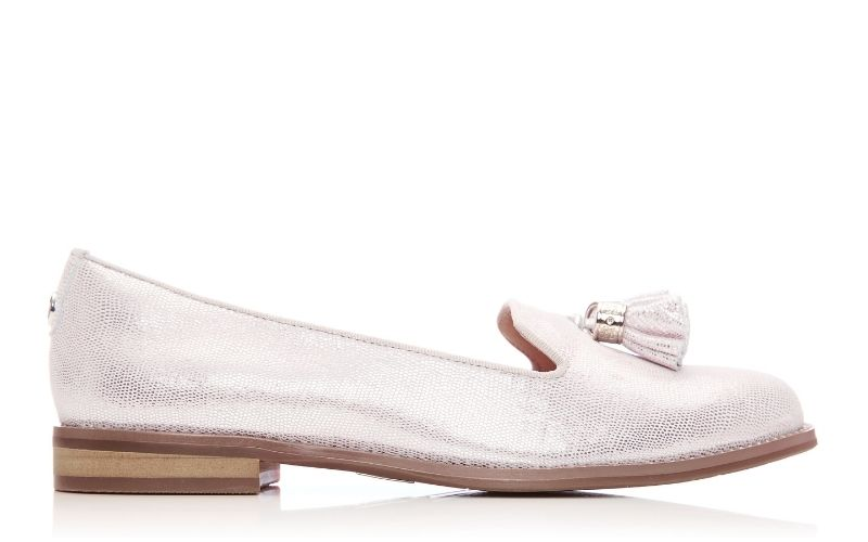 Exie Rose Gold Metallic Lizard Effect Leather