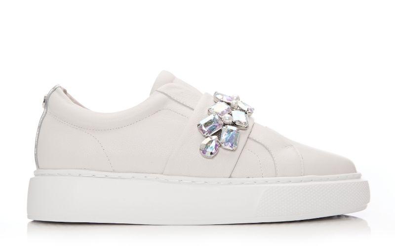 Abelina Off White Leather