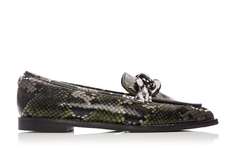Emelda Khaki - Snake Leather