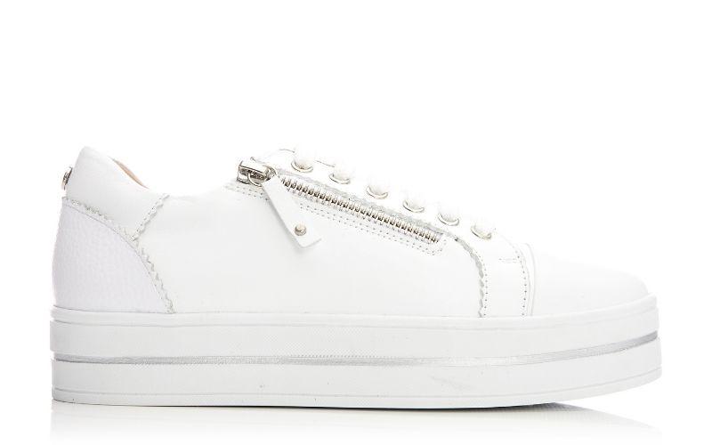 Aross White Leather