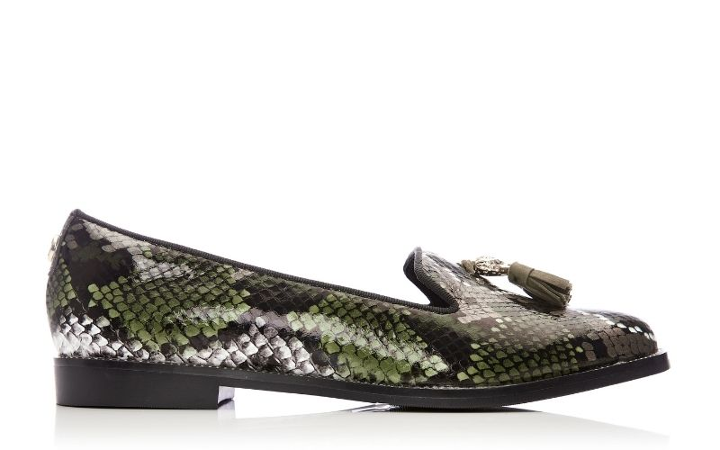 Enlie Khaki - Snake Leather
