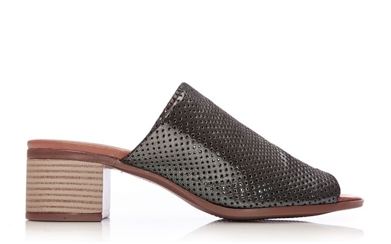Morella Pewter Metallic Leather