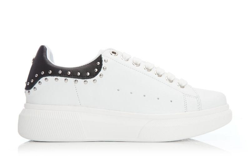 Astud White Leather