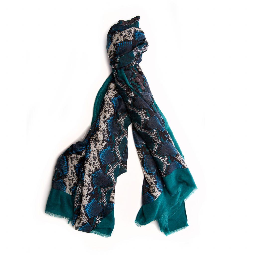 Atinascarf Blue - Snake Fabric