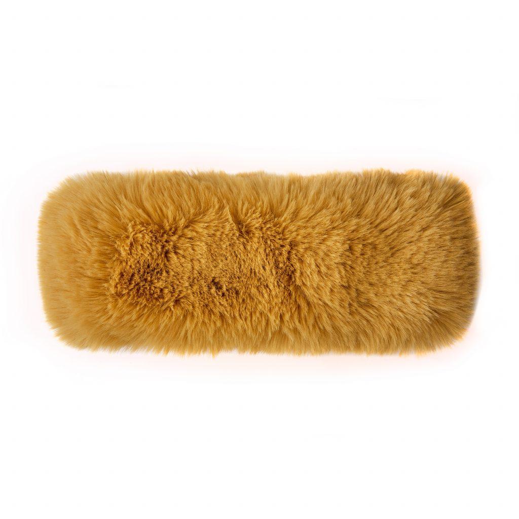 Frayaheadband Mustard Faux Fur £24.95