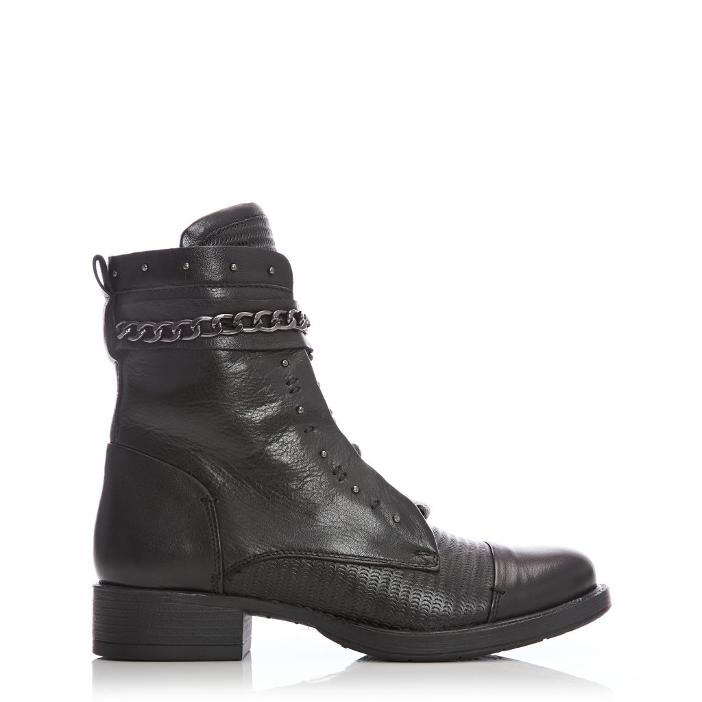 Annalette Black Leather