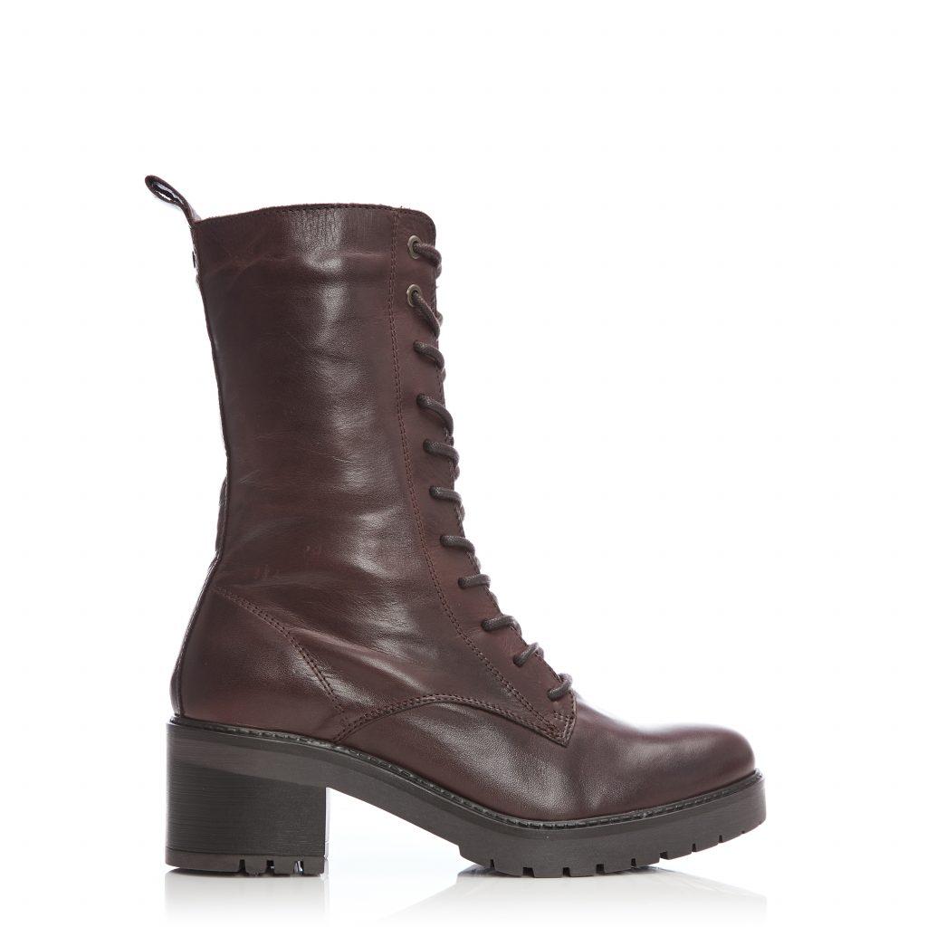 Breece Dark Brown Leather