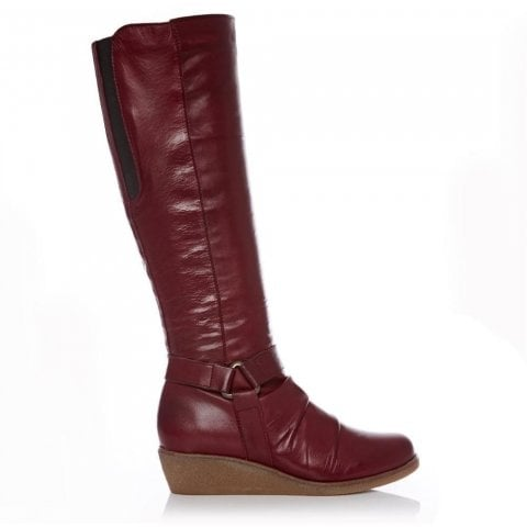 Addina Burgundy Leather