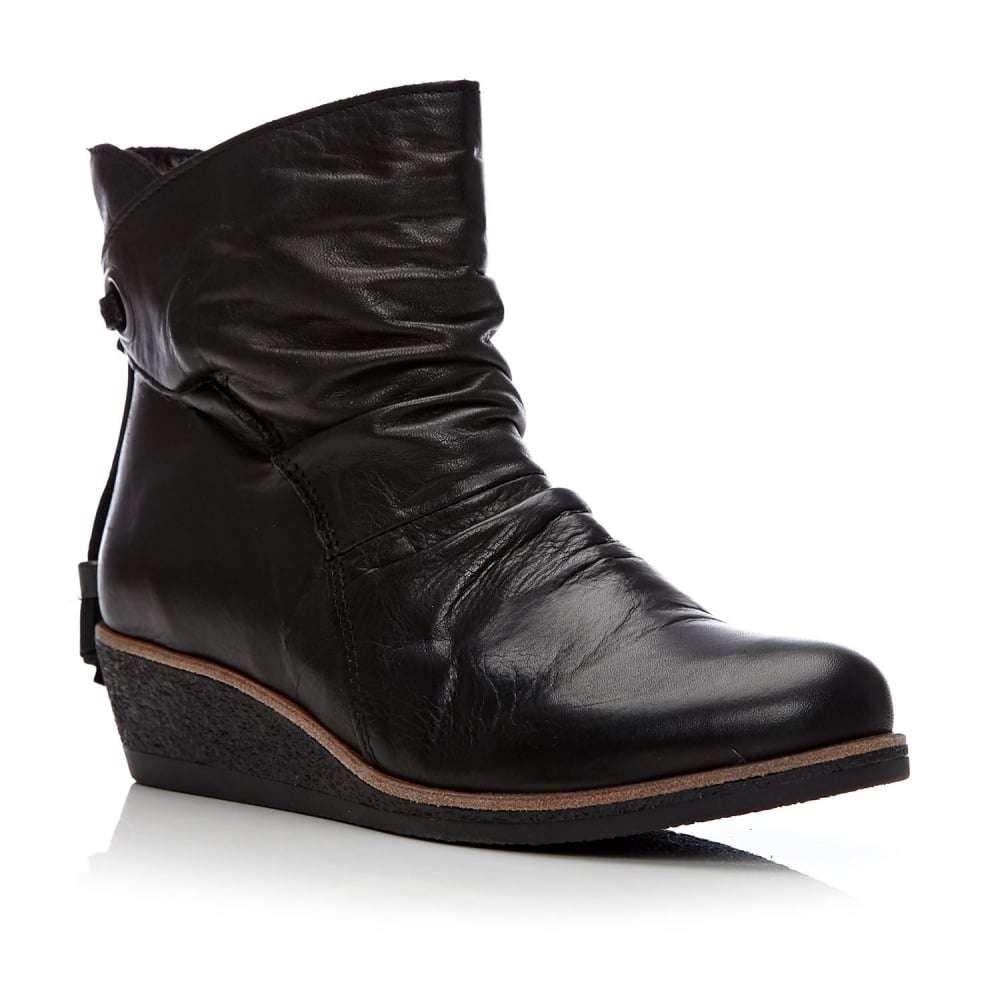 0fe826cd76b Adoni Black Leather - Boots from Moda in Pelle UK