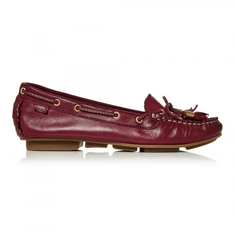 Agazia Burgundy Leather