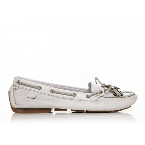 Alivia White Leather