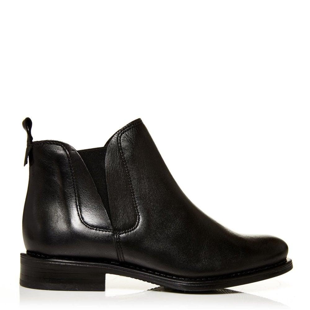 Ametti Black Leather Boots From Moda In Pelle Uk