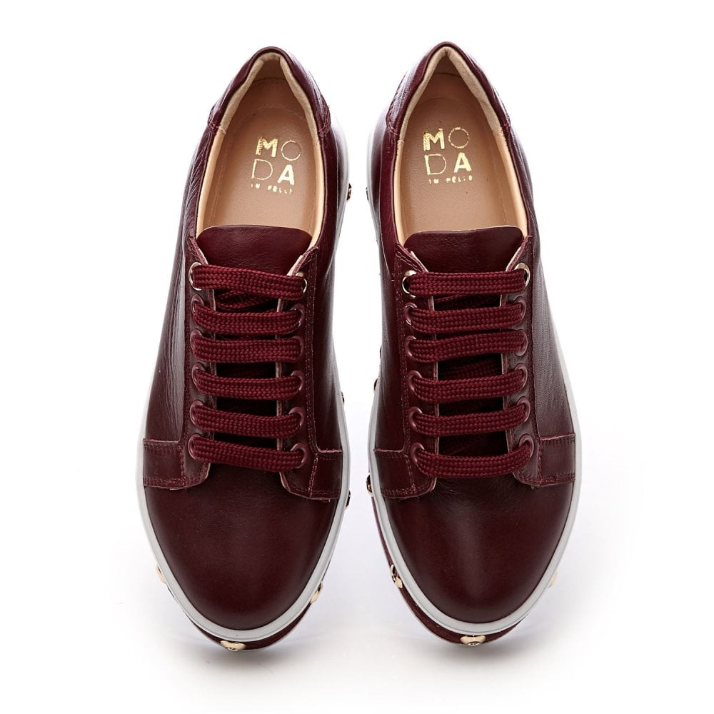Atina Burgundy Leather