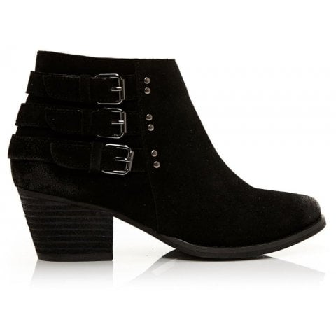 Bertina Black Suede