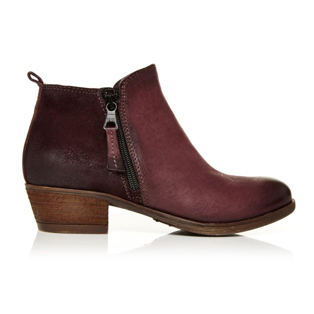 7488d9194 Besta Burgundy Leather - Boots from Moda in Pelle UK