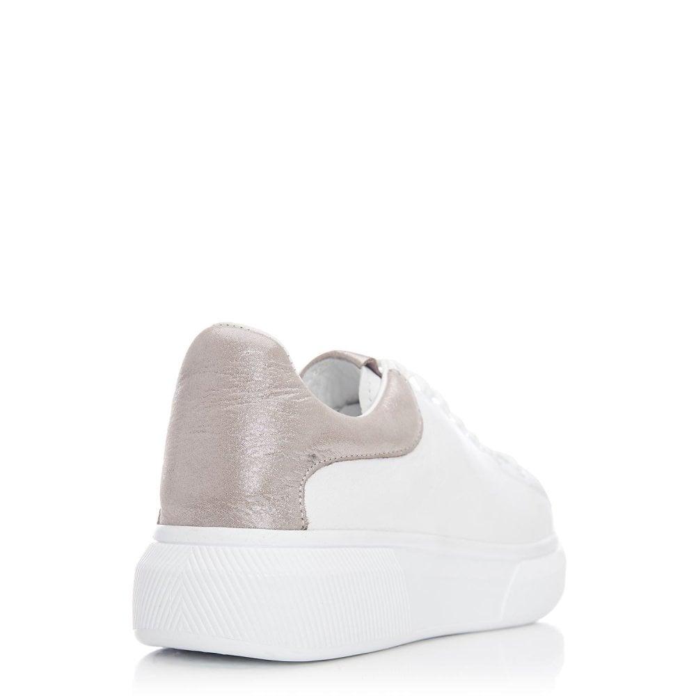 Britoli White Taupe Leather - Shoes