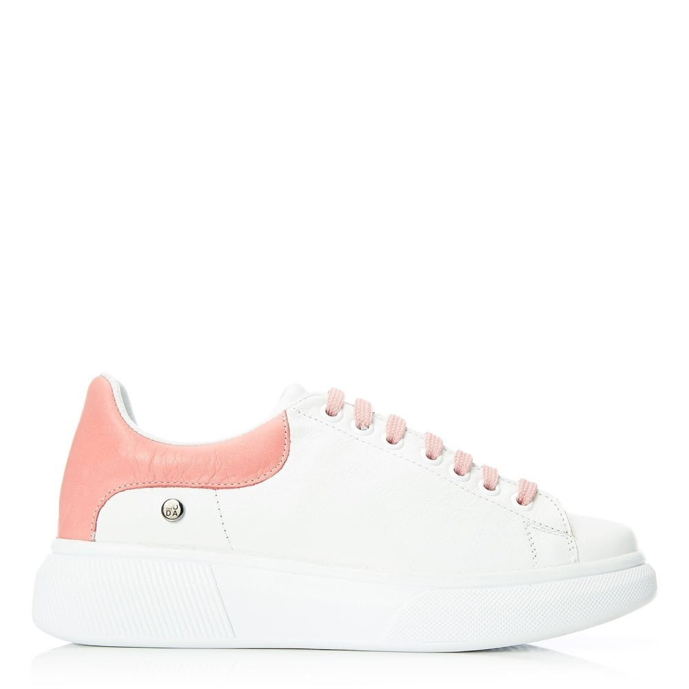 Brittany White Pink Leather - Shoes
