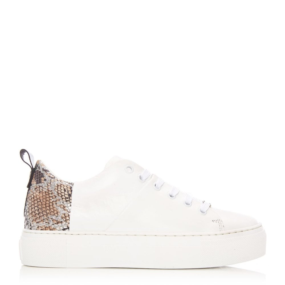 Brylee White Leather - Shoes from Moda