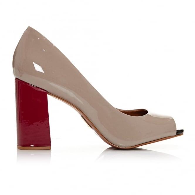 Calandre Nude Patent Leather