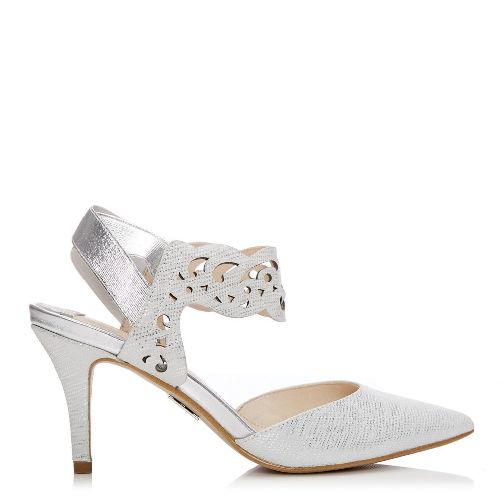 Party Shoes Special Occasion Moda In Pelle High Heels Glamour Suede Red Carmani White Metallic Lizard