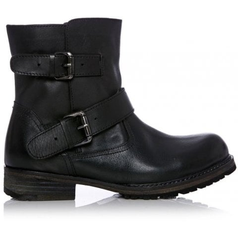 Celest Black Leather