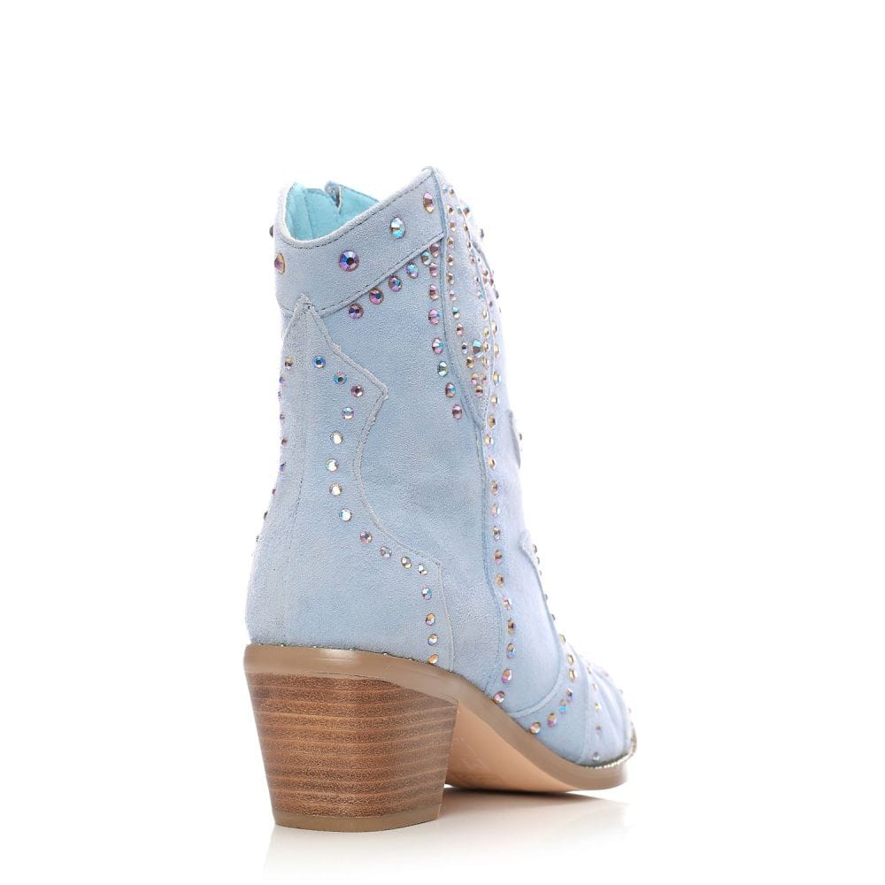 Chera Light Blue Suede - Boots from