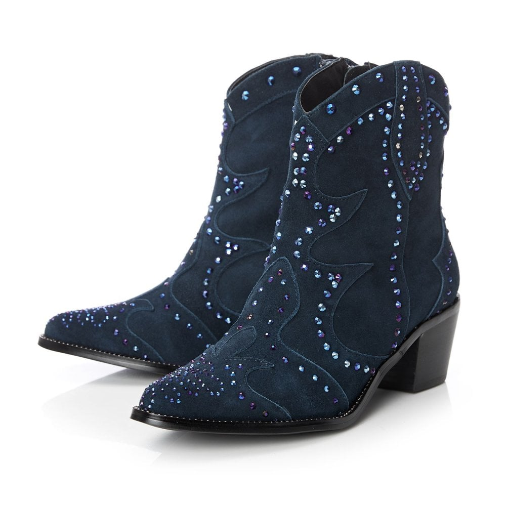 Chera Navy Suede - Boots from Moda in
